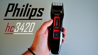 Philips hc3420 Hair Clipper Series 3000 Unboxing Review HD