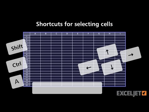 Shortcuts for selecting cells