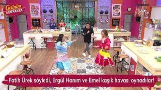 Fatih Ürek söyledi, Ergül Hanım ve Emel kaşık havası oynadılar! Gelinim Mutfakta 151. Bölüm