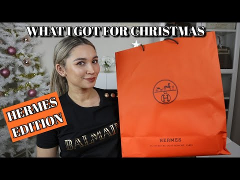 WHAT I GOT FOR CHRISTMAS | UNBOXING HERMES PRESENTS