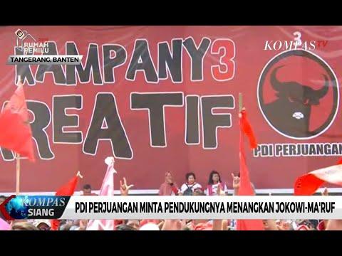 PDI-P Minta Pendukungnya Menangkan Jokowi-Ma'ruf