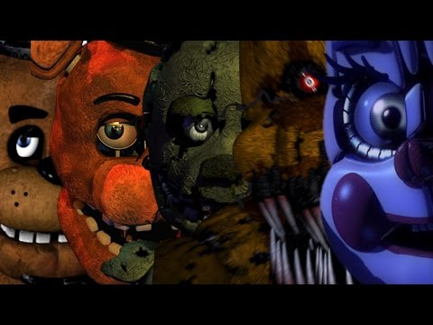 fnaf 1,2,3,4,world,sister location main menu music