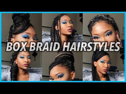 BOX BRAID HAIRSTYLES! How I Style My KNEE LENGTH Box Braids