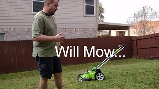 Review of GreenWorks Twin Force G-MAX 40V - Mowed the entire yard.