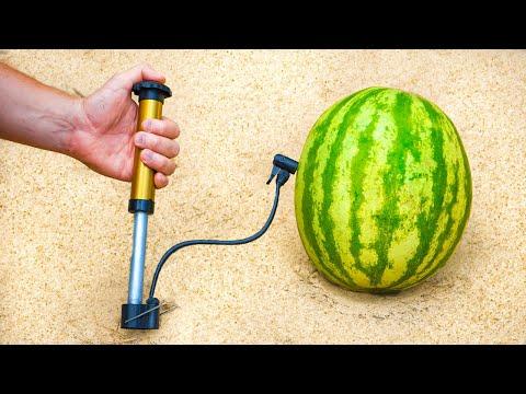 Experiment: Watermelon vs Air Compressor