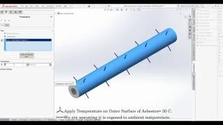 SolidWorks Simulation- Heat Conduction Through Composite Cylinder or  Insulated Cylinder