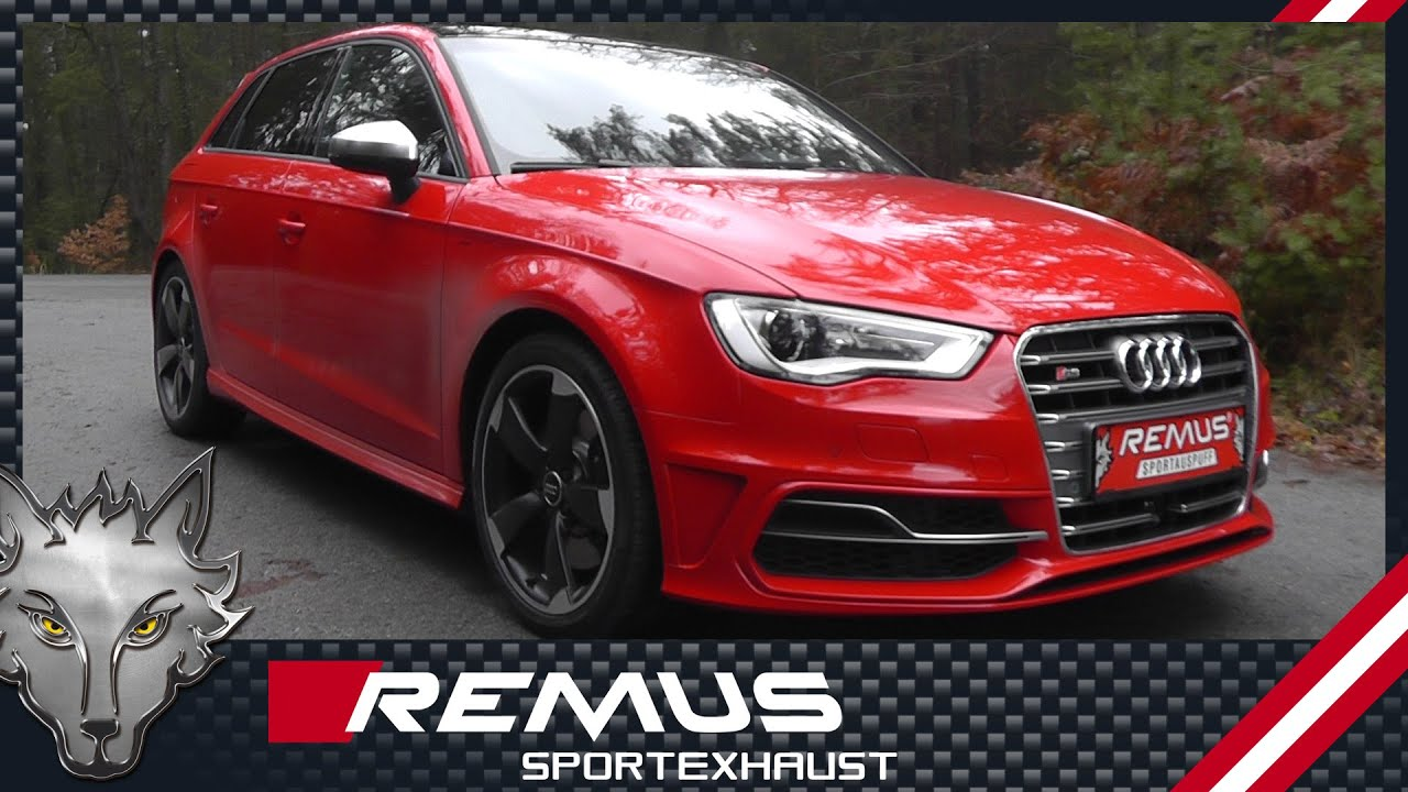 audi s3 8v with remus cat back sport exhaust system youtube. Black Bedroom Furniture Sets. Home Design Ideas