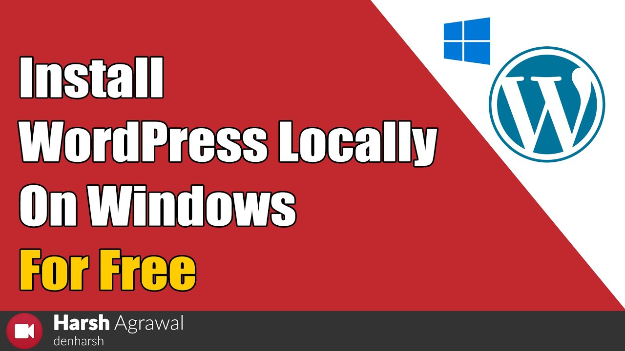 How to Install WordPress Locally on Windows For Free