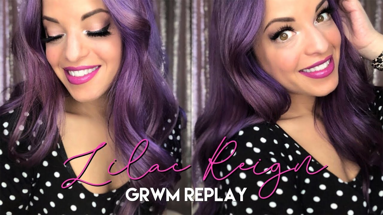 524d6357579 GRWM REPLAY - Purple Reign   Lilac Lavender Lips with my NEW PURPLE HAIR!