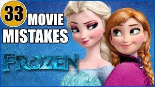 Repeat youtube video 33 Mistakes of Disney's FROZEN You Didn't Notice