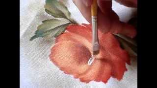 Como pintar uma rosa
