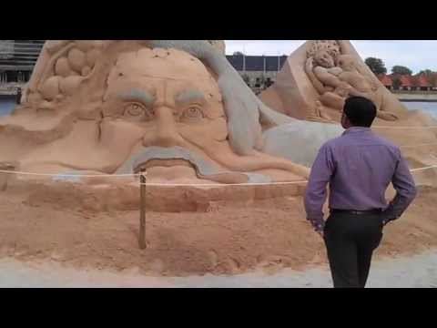 Sudarsan Pattnaik Won 1st prize at Copenhagen International  sand Art championship