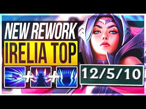 IRELIA REWORK IS ACTUALLY SO STUPID! Irelia Top Gameplay | League of Legends