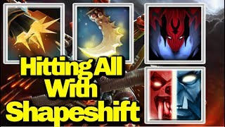 ShapeShift With Flak Cannon And Essence Shift || Ability Draft || Dota 2