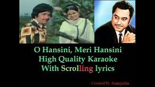 O Hansini, Meri Hansini || Jahreela Insaan 1974 || karaoke with scrolling lyrics (High Quality)