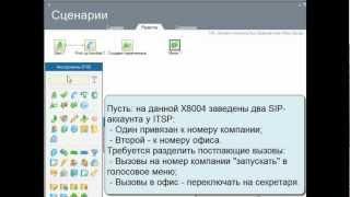 ZyXEL X8004 Урок №5 Сценарий приема звонков с внешних линий.