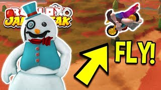 Roblox Jailbreak HOW TO FLY USING THE NEW SNOWMAN GLITCH! *NO HACKS OR EXPLOITS*