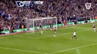 West ham v everton 2-3 win, brilliant 2 goals by Baines