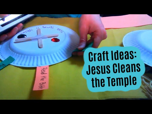 """""""Jesus Cleans the Temple""""  Bible Craft Ideas from John 2:13-22"""