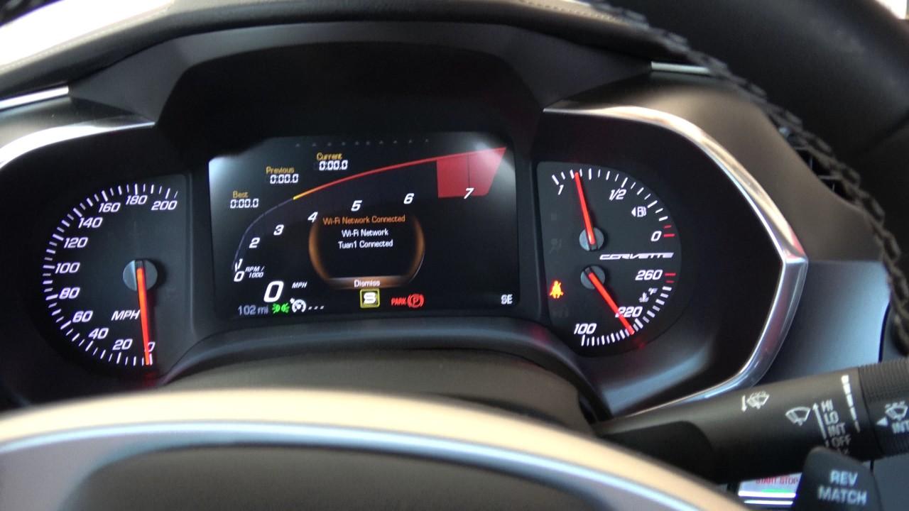 2017 C7 Corvette Gauge Cluster Change The Rpm Circle To