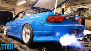 MY FIREBREATHING 2JZ 240SX Hits the Dyno! BLUEJZ MAKES POWER!
