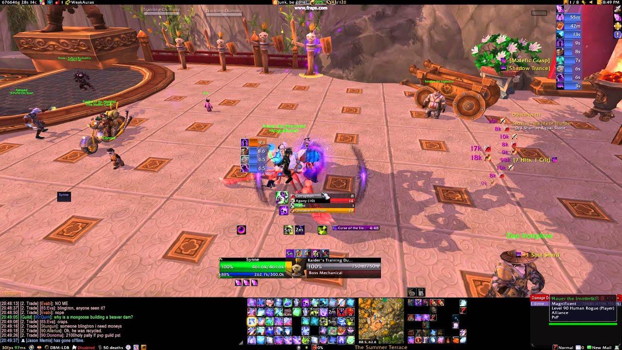Affliction Warlock WeakAuras Setup - 5 2
