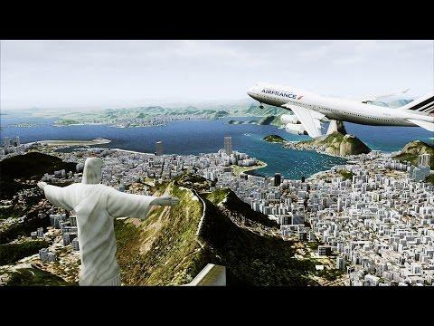 Rockstar Flight Simulator 2015#1 : 747 take off/landing L ...