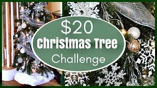 Dollar Tree Holiday Decor Challenge | Winter Wonderland Christmas Tree