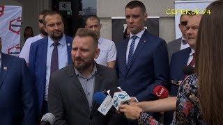 Piotr Liroy-Marzec kandydatem na prezydenta Kielc - konferencja prasowa 23.08.2018