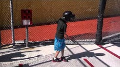 Alex at the Batting Cage
