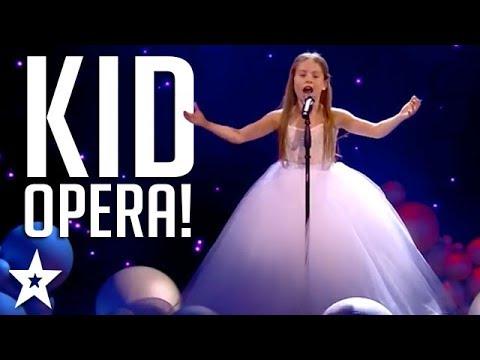 INCREDIBLE Kid Opera Singer on Arab's Got Talent 2017!   عرض النصف نهائيات –إيمان بيشه