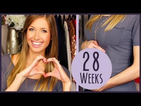 RachhLoves Pregnancy Week #28 Update ♥ Cravings, Gender Reveal Video?! & Baby Bump!