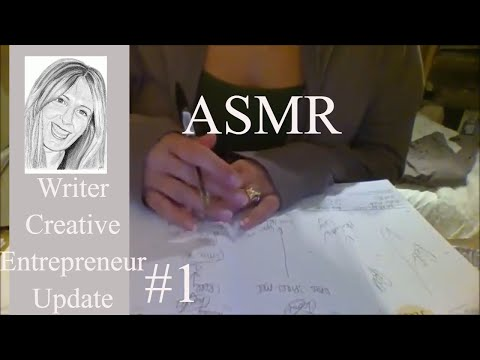 ASMR Time together. Let's update my diary & journal. I'm a writer, entrepreneur & creative artist