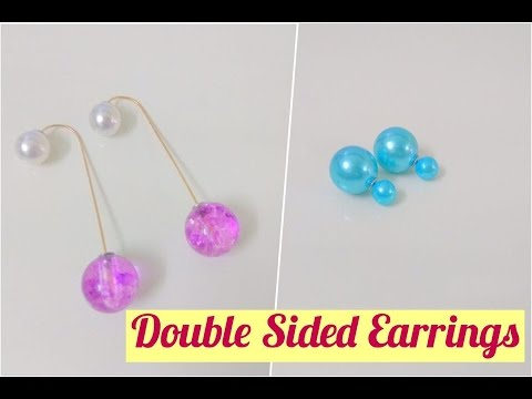 Double Sided Pearl Ball Drop Earrings Craftziners 69