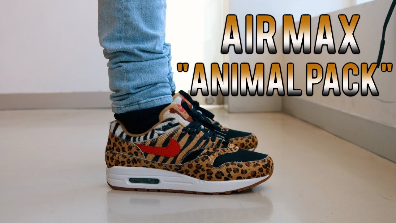 buy online f6658 89710 air max 1 atmos animal pack 2.0 (2018 all black box)
