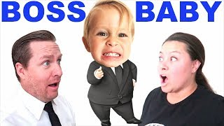 BOSS BABY in CHARGE for 24 HOURS on BIRTHDAY! Parents Can't Say No!