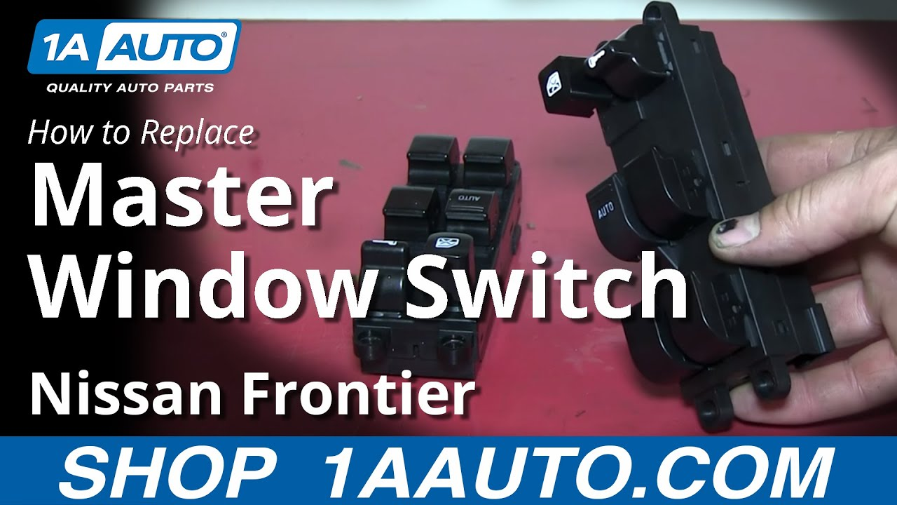 how to install replace power window master switch 1998 04 nissan frontier [ 1280 x 720 Pixel ]