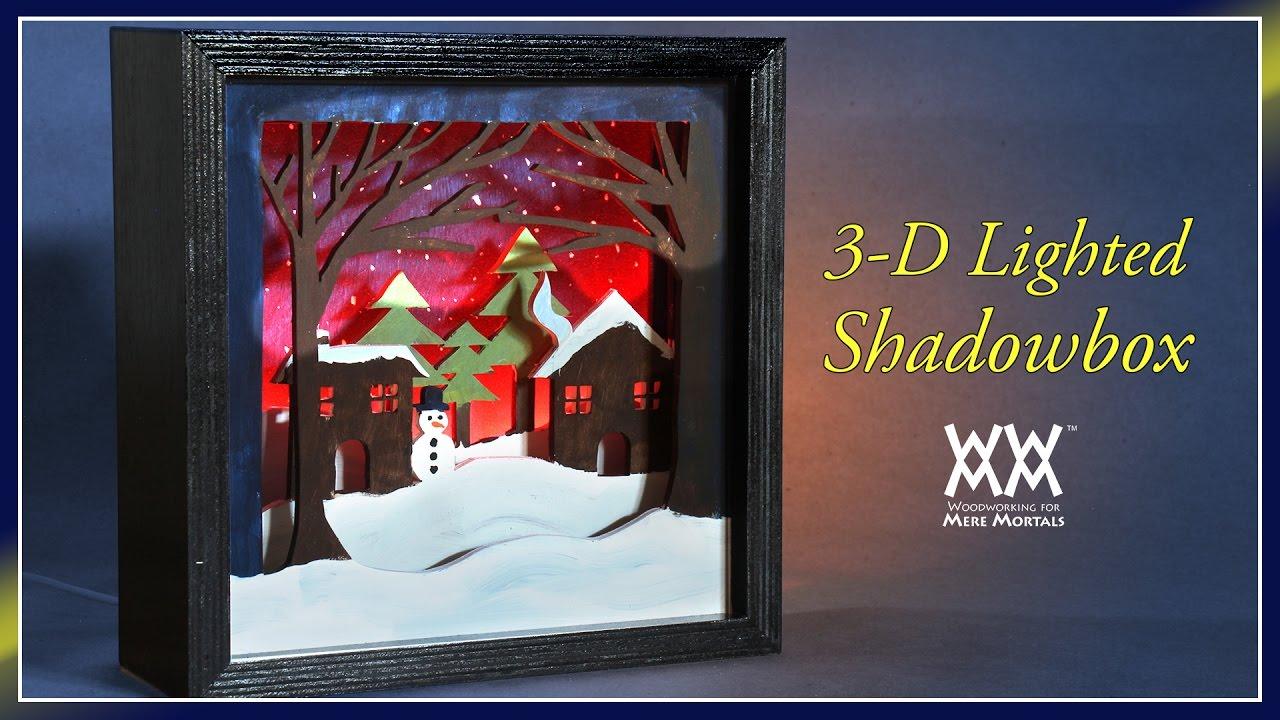 Lighted 3 D Scroll Saw Shadowbox Wwmm Art Amp Design Youtube