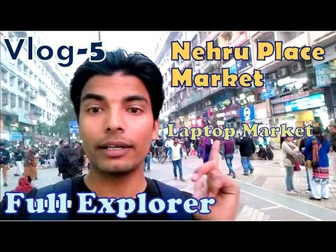 Nehru Place Market (EXPLORING-laptops,phones,shoes,watches), DELHI [ Firoz vlogs - 5]