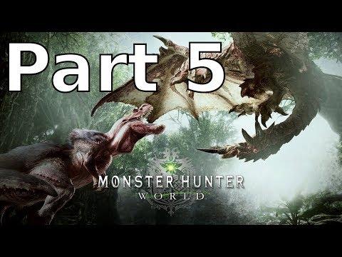 (Blind) Part 5 Monster Hunter World | Gathering and Hunting!