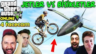 JETLER vs BİSİKLETLER-4 FACECAM | EKİPLE GTA 5 ONLINE