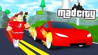 MAD CITY ROADSTER vs HOTROD SUPERHERO (Roblox)