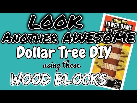 LOOK!!!! ANOTHER AWESOME Dollar Tree DIY using these WOOD BLOCKS