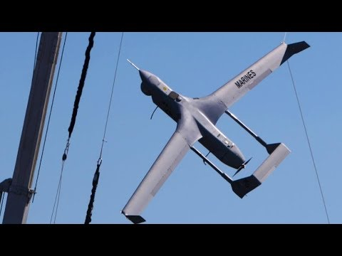 DRONE CATCHER! Marine Unmanned Aerial Vehicle Squadron 2 launch and RECOVER RQ-21A BLACKJACK DRONES!