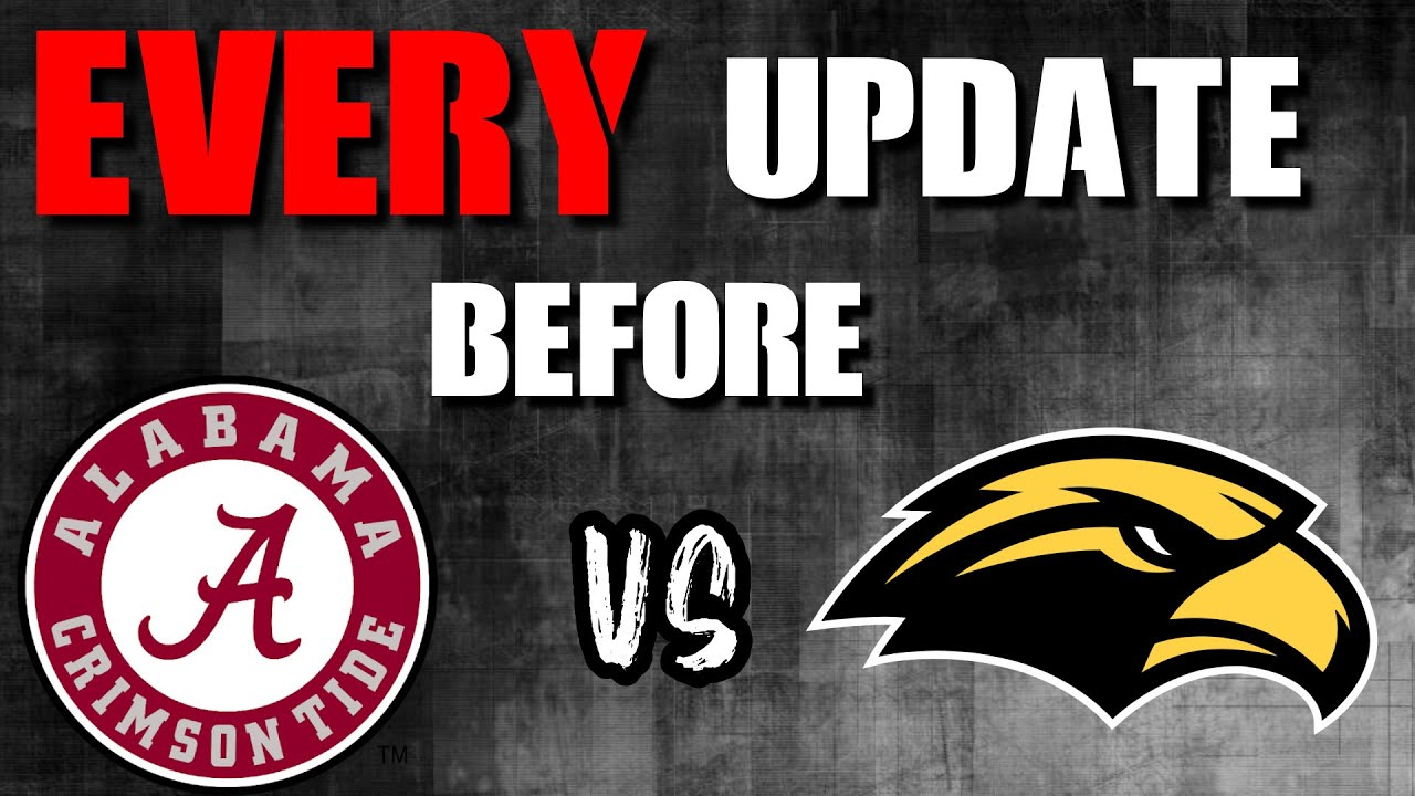 Can Alabama get back to its STANDARD vs Southern Miss?