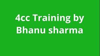 4CC Training | In Hindi | Bhanu Sharma | For Association Please Call: +91-8527249118