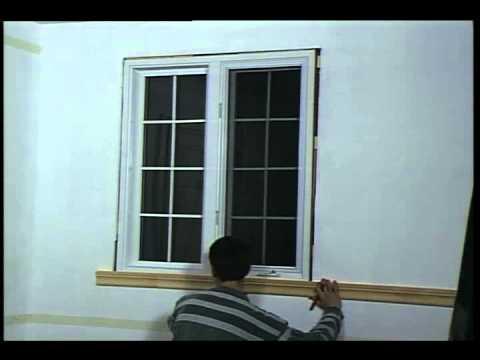 pose de moulure portes et fenetres decoration et de renovation