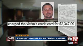 Former Tampa dojo owner accused of taking his students' money arrested