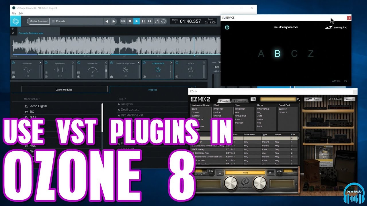 How to Use VST Plugins in iZotope Ozone 8