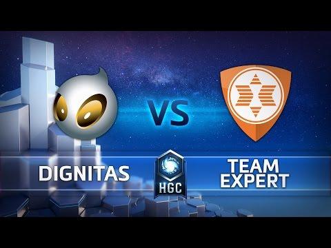 HGC EU Playoffs - Phase 1 – Game 2 - Team Dignitas v Team expert